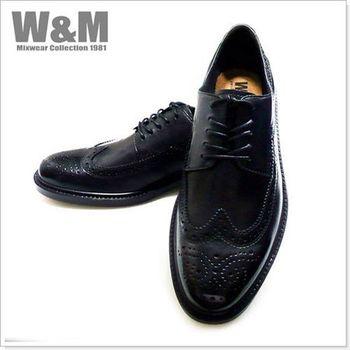 【W&M】都會紳士真皮系列 獨家時尚設計款男皮鞋 黑 (另有咖)