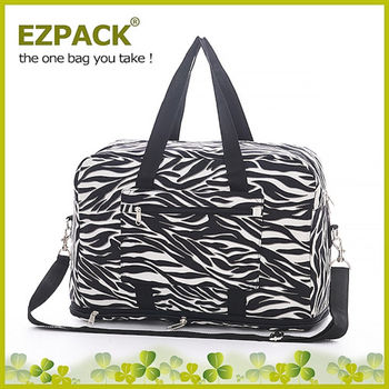 【EZPACK】輕巧收合旅行袋 EZ81113 黑白斑馬