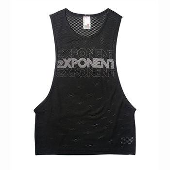 eXPONENT 吸濕排汗 側挖背運動透氣背心(深灰) 165D0114