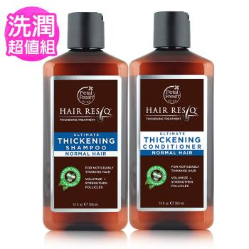 【美國 沛特斯】有機成份B群頭皮洗髮+潤絲-稀疏髮質適用(355ml/12oz)