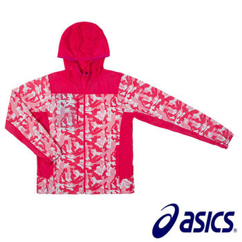 【Asics 亞瑟士】輕量 風衣外套 平織外套 K11605-16  (紅)