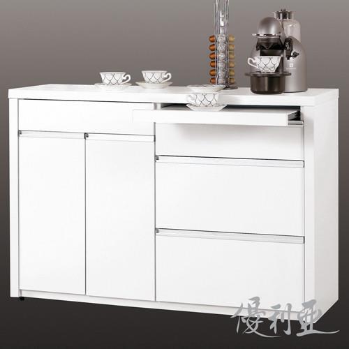 【優利亞-卡洛純白】4尺餐櫃