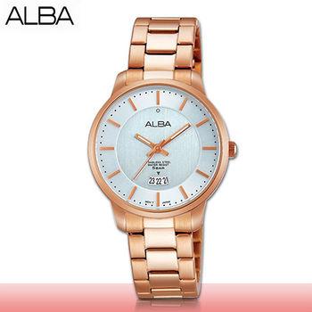 【SEIKO 精工 ALBA 系列】甜美氣質錶款_優雅玫瑰金_女錶(AH7F46X1)