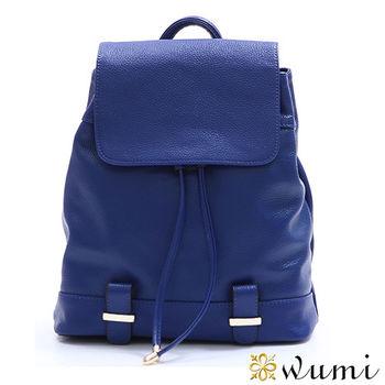 WuMi真皮 真皮娜亞麗束口後背包  共二色