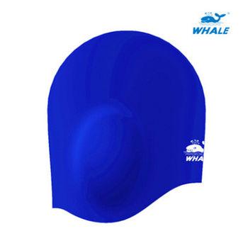 WHALE 3D護耳防水矽膠成人泳帽