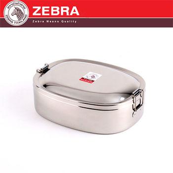 【斑馬 ZEBRA】304不鏽鋼橢圓便當盒(16cm/0.8L)