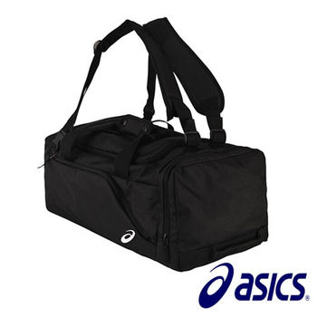 【Asics 亞瑟士】多功能 可後背 旅行裝備袋  (黑)