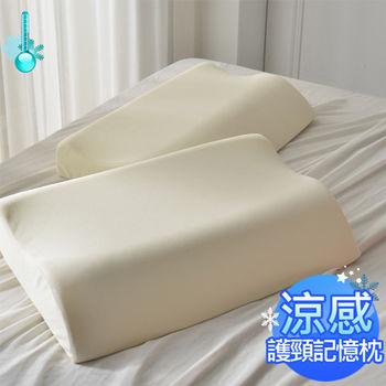 AmoreCasa 台灣製造 涼感護頸記憶枕2入