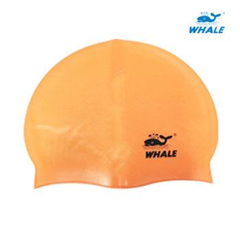 WHALE 防滑顆粒防水矽膠成人泳帽
