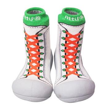 Attipas襪型學步鞋[真品平輸]-復古高筒-橘