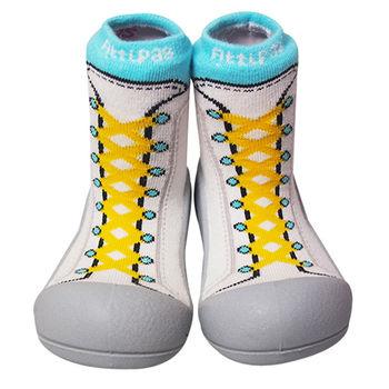 Attipas襪型學步鞋[真品平輸]-復古高筒-黃