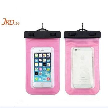 JRD 手機防水袋/手機套/可觸控式 通用5.5吋以下手機(粉色)