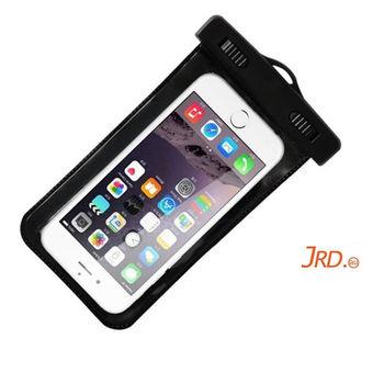 JRD 手機防水袋/手機套/可觸控式 通用5.5吋以下手機(黑色)