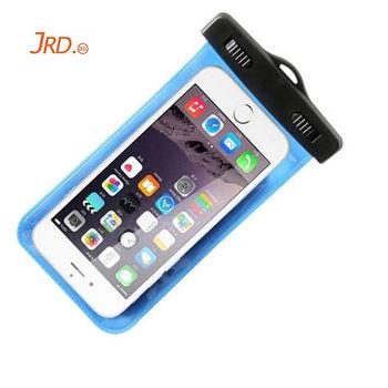 JRD 手機防水袋/手機套/可觸控式 通用5.5吋以下手機(藍色)