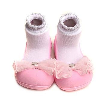 Attipas襪型學步鞋[真品平輸]-粉紗水晶
