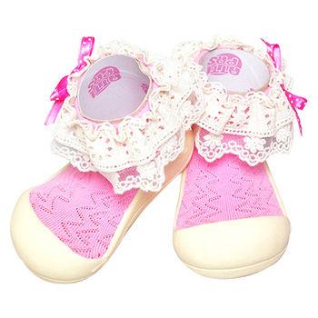 Attipas襪型學步鞋[真品平輸]-花邊教主-粉紅