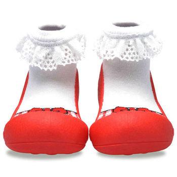 Attipas襪型學步鞋[真品平輸]-亮紅芭蕾