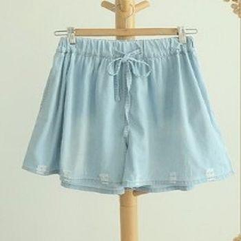 [協賀]寬鬆顯瘦百搭破洞牛仔短褲