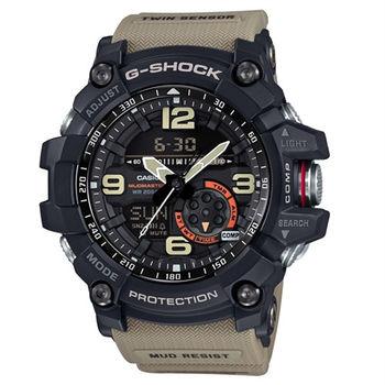 G-SHOCK MASTER OF G MUDMASTER 極限大陸時尚帥氣限量運動型腕錶-大地棕-GG-1000-1A5