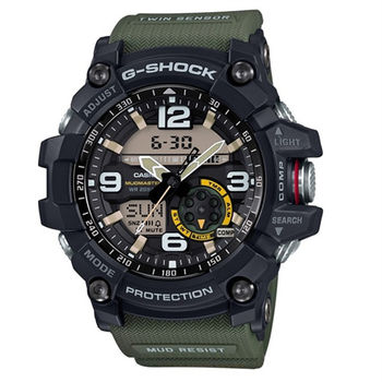 G-SHOCK MASTER OF G MUDMASTER 極限大陸時尚帥氣限量運動型腕錶-綠-GG-1000-1A3
