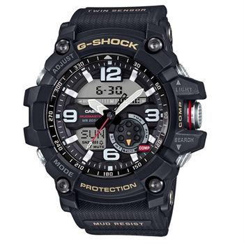 G-SHOCK MASTER OF G MUDMASTER 極限大陸時尚帥氣限量運動型腕錶-黑-GG-1000-1A
