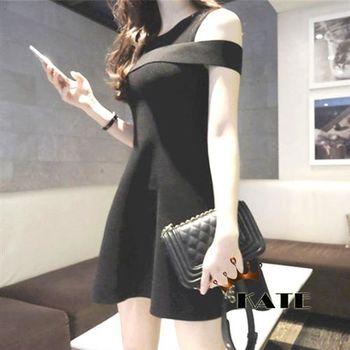 【KATE】露肩小圓裙洋裝K209(氣質黑)