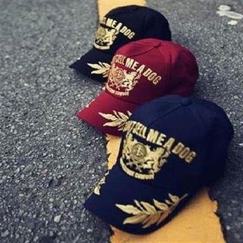 【米蘭精品】棒球帽時尚休閒款燙金刺繡遮陽帽子56g75