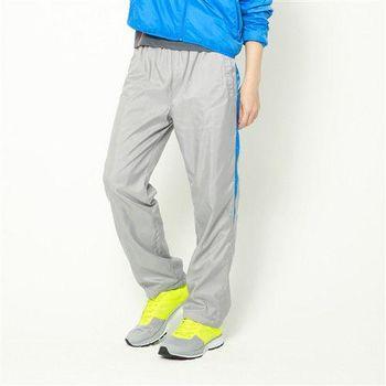 【美國 AIRWALK】休閒條紋撞色簡約風衣長褲 -男 -灰