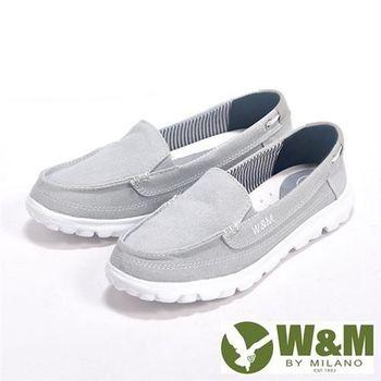 【W&M】BOUNCE系列 超彈力舒適帆布增高鞋女鞋-灰