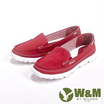 【W&M】BOUNCE系列 超彈力舒適帆布增高鞋女鞋-紅