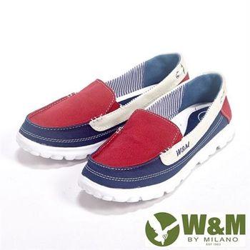 【W&M】BOUNCE系列 超彈力舒適雙色拼布增高鞋女鞋-紅
