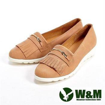【W&M】輕量造型流蘇休閒女鞋-卡其(另有灰/紅)