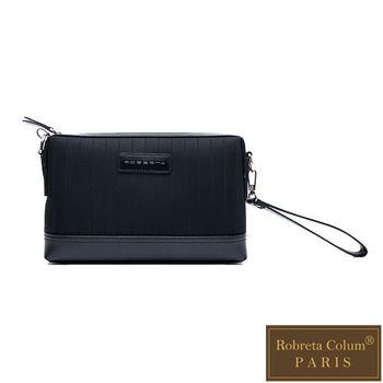 Roberta Colum - 倫敦時尚紳士休閒配牛皮經典款手拿包