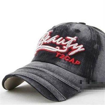 【米蘭精品】棒球帽牛仔布字母刷色遮陽帽子56g79