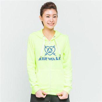 【美國 AIRWALK】休閒針織連帽外套-女 -螢黃