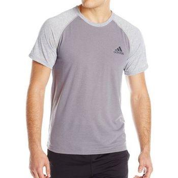 【Adidas】2016男時尚透氣極限雙灰色短袖圓領ㄒ恤(預購)