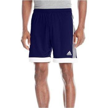 【Adidas】2016男時尚Tasigo藍白色休閒齊膝短褲(預購)