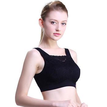 【波瑟楓妮】milana bra日系蕾絲無鋼圈內衣(黑色)