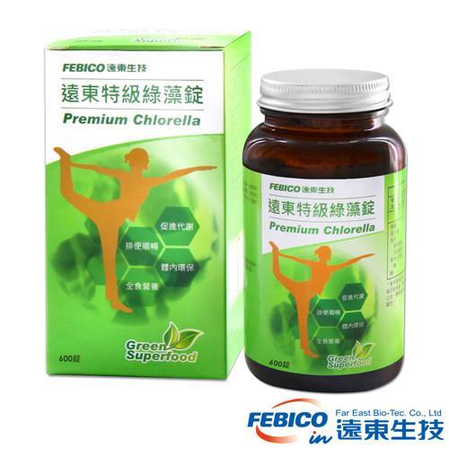 遠東生技 特級綠藻200mg*600錠