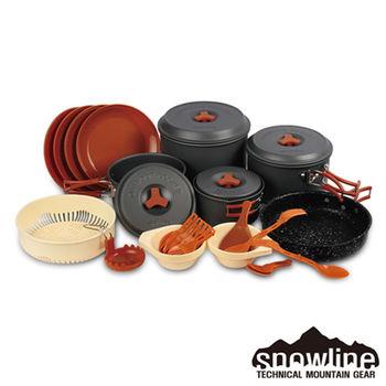 【韓國snowline露營用品】OC 7-8人鋁合金套鍋-不沾盤