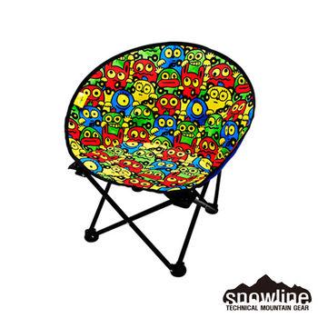 【韓國snowline露營用品】MC小怪獸月亮椅-童