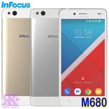 Infocus M680 八核5.5吋 極速雙卡智慧手機 -贈專用皮套+專利抗藍光鋼化玻璃保貼+手機/平板支架+韓版可愛收納包