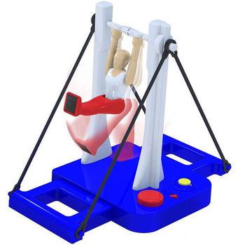 【日本熱銷桌面遊戲】 大車輪體操機鐵棒君 單杆翻轉體操玩具