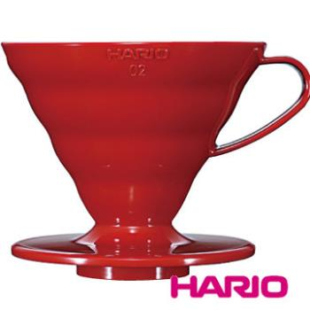 【HARIO】V60紅色02樹脂濾杯1~4杯 VD-02R
