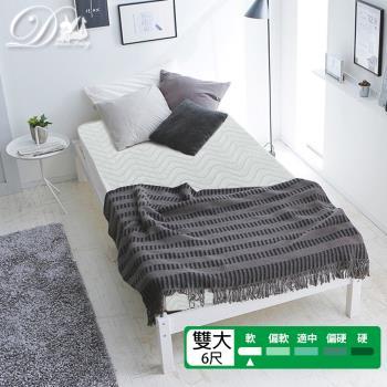 睡夢精靈  花語系勿忘我飯店級柔軟型獨立筒床墊雙人加大6尺