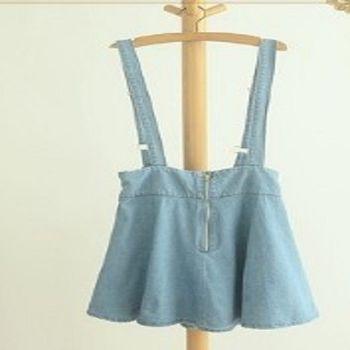 [協賀]高腰顯瘦半身裙背帶裙