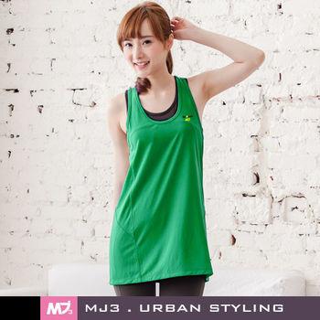 【MJ3】寬鬆A-line吸排長版背心裙-女(巴西綠)