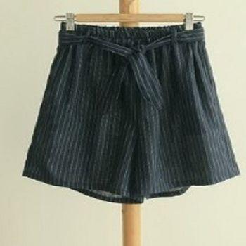 [協賀]蝴蝶結綁帶鬆緊腰休閒短褲