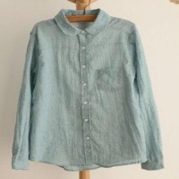 [協賀]修身棉長袖襯衫