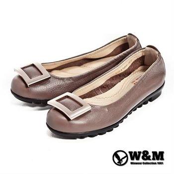 【W&M】四方環氣墊淑女鞋-棕(另有黑)